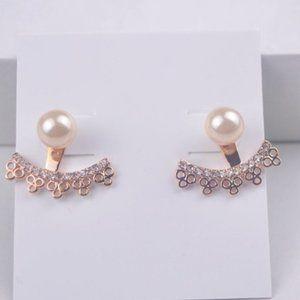 Kate Spade Pearl Embellished Rose Gold Earrings